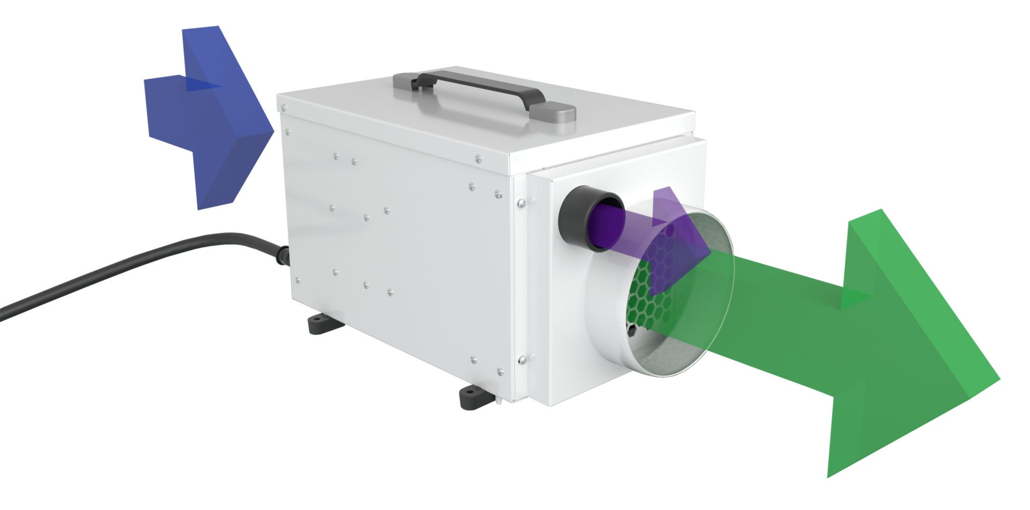 dh1200 air flow dehumidifiers by Ecor Pro