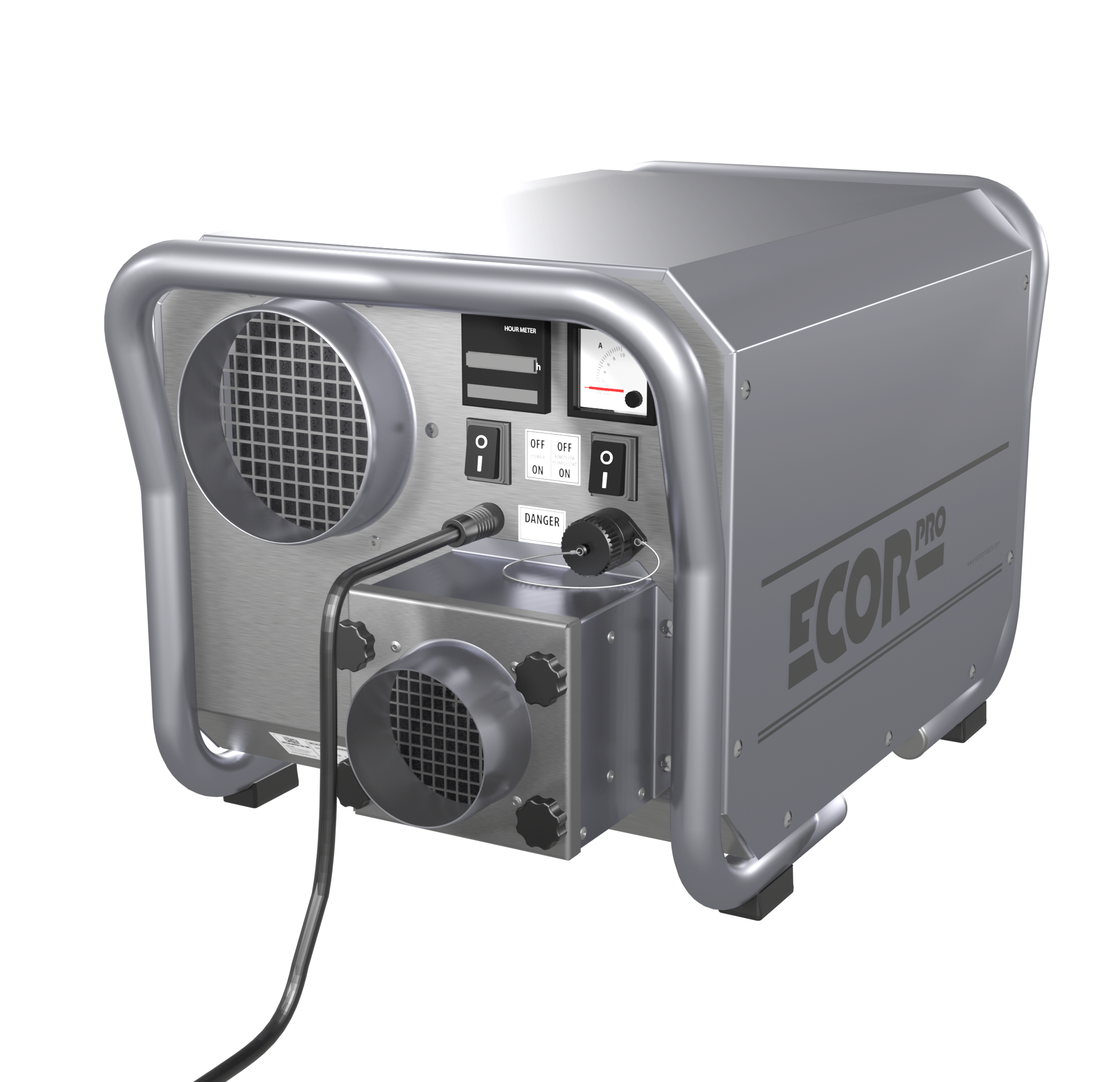 dh3500inox epd200pro front dehumidifiers by Ecor Pro