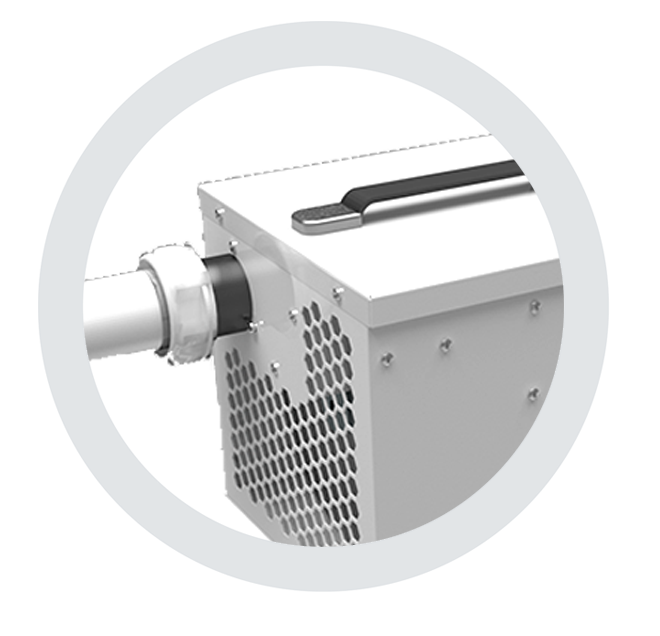 exhaust for dryfan dehumidifiers by Ecor Pro