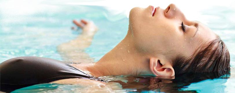 woman swimming dehumidifiers by Ecor Pro