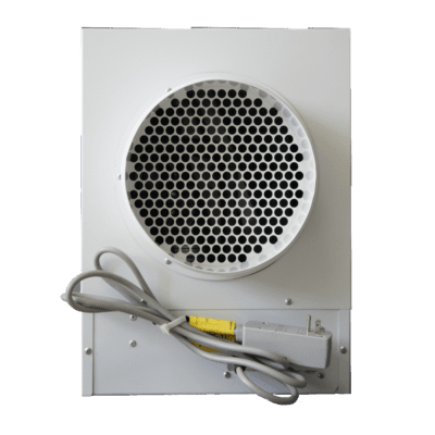 LD800-H dehumidifier in white with all metal construction used as a crawl space dehumidifier