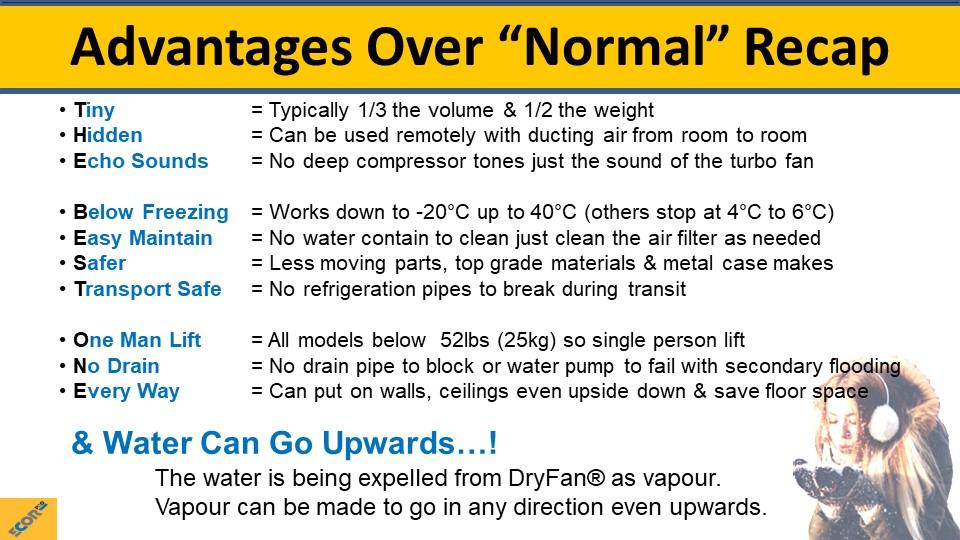 dehumidifier training slide 33