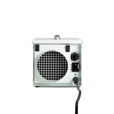 Very small white industrial dehumidifier without water container or drain tube