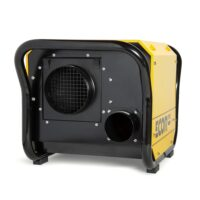 Restoration dehumidifier DH2500 that is often used in larger homes in yellow galvanised steel