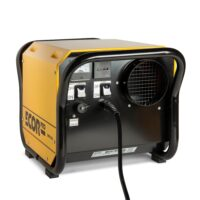 Galvanised steel DH2500  dehumidifier used for homess and restoration often used to dry flooded areas or warehouses