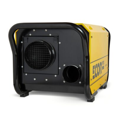 Yellow and stainless steel dehumidifiers used for ships, warehouses and crawl spaces