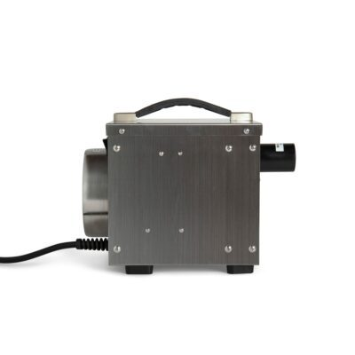Stainless steel industrial dehumidifier that is used for drying homes and out buildings as well as vacation homes