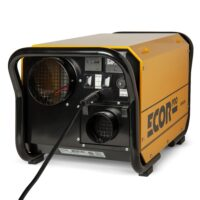 Restoration dehumidifier in yellow with four hole design