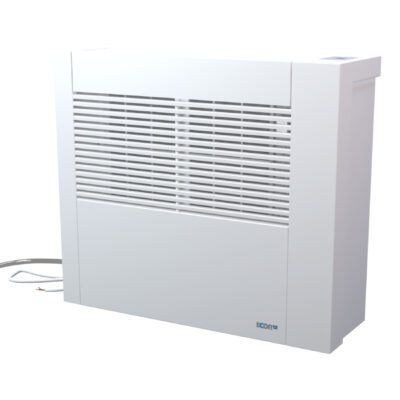 D1100 swimming pool dehumidifier in white protected metal from chlorine attack